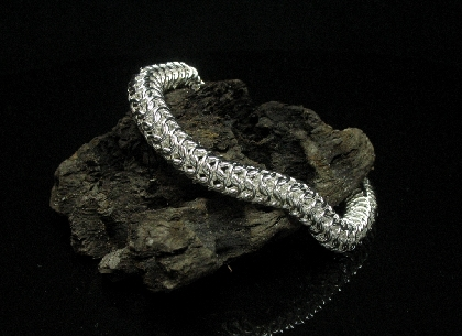 Sterling Silver  Roundmaille Bracelet for Men
