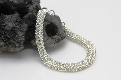 Sterling Silver Dainty Roundmaille Bracelet