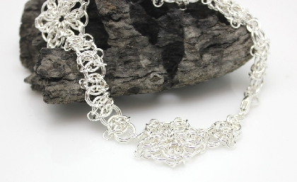 Sterling Silver Triple Celtic Chainmaille Anklet
