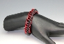 Stretchy Black and Red Chainmaille Bracelet