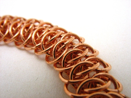 Solid Copper Viperscale Necklace