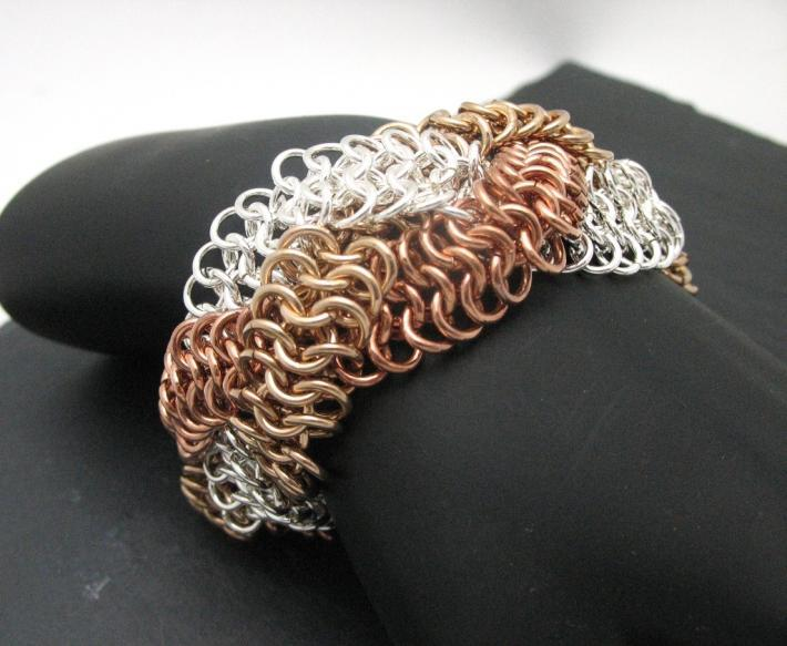 Braided European 4 and 1 Bracelet