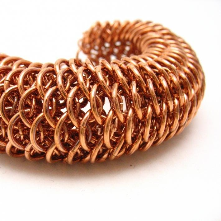 Copper Dragonscale Chainmaille Bracelet