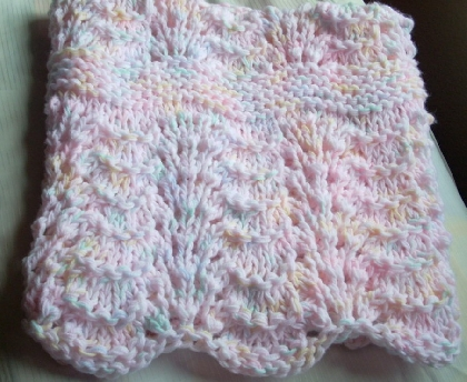 Hand Knit Baby Receiving Blanket Made to Order Great Shower Gift