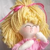 Meet VICKI  Handmade Rag Doll