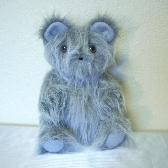 Gray Long-Hair Handmade Toy Teddy Bear