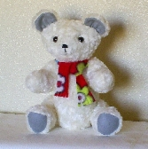 Handmade White toy Teddy Bear - Moving Arms and Legs