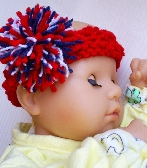 Red White and Blue Baby Knit Headband