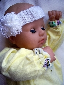 Snow White Hand Knit Baby Headband