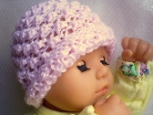 Popcorn Knit Pale Pink Infant Hat