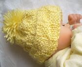 Sunshine Yellow Hand Knit Baby Hat