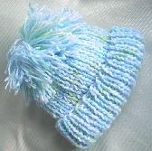 Knit Blue Variegated Toddler Hat