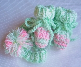 Pink and Green Baby Girl Gift Set Booties and Headband