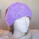 Orchid Lavender Knit Ladies Headband