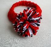 Baby Headband Red White and Black