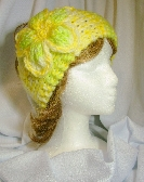 Sunny Yellow Warm Soft Ladies Headband with Flower