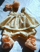 Peach Outfit Newborn Baby Girl Size