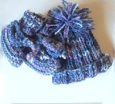 Baby Boy Knit Set Hat and Booties