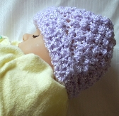 Lavender Knit Baby Hat