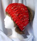 Red Hand Knit Ladies Headband