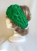 Bright Green Ladies Headband with Flower