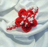 Baby Headband with Red Flower