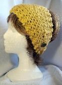 Golden Yellow Knit Ladies Headband or Cowl