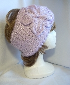 Orchid Bouclé Ladies Headband with Flower