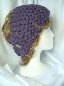 Purple Hand Knit Ladies Headband or Cowl