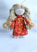 Miniature Handmade Rag Doll Ornament