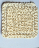 Vanilla Cotton Knit Wash Cloth