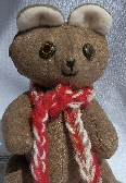 Tiny Handmade MicroFiber Brown Teddy Bear