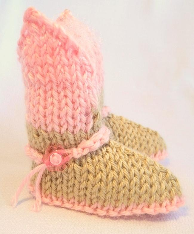 Cowgirl Booties Pink and Tan Custom Order for Lisa