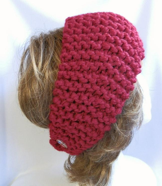 Cranberry Ladies Hand Knit Headband or Cowl
