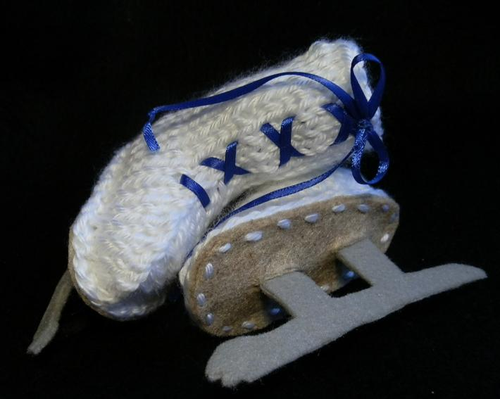 Ice Skate Baby Booties PDF Pattern Newborn to 3 Month Old