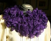 Ruffle Scarf in Rich Purple with Bling