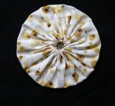 Fabric Yoyo in White with Golden Print