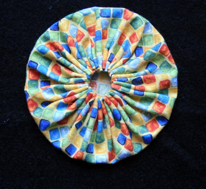 Fabric Yoyo in Circus Colors