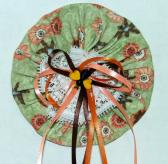 Fabric Yoyo Barrette or Brooch in Festive Fall Colors