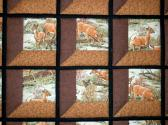Hand Quilted ATTIC WINDOWS Quilt Deer and Autumn Colors
