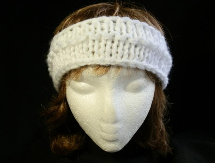 Ladies Headband in Bright White