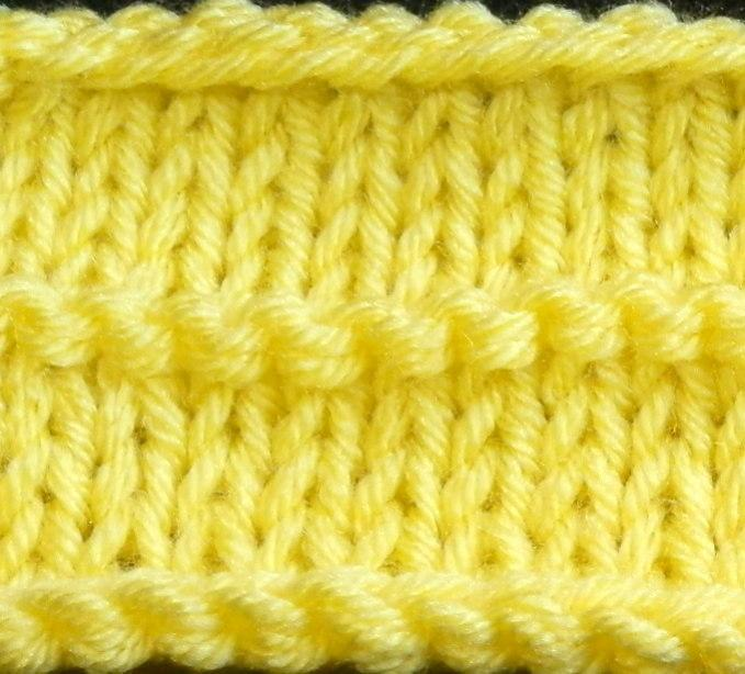 Ladies Headband Hand Knit in Vibrant Sunnyt Yellow