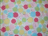 Baby Comforter Handmade Pink Yellow Green Turqouise Circles