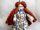 Rag Doll Handmade Toy or Ornament Redhead in Floral Print