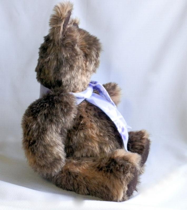 Handmade Teddy Bear in MultiColor Brown Fur with Moving Arms and Legs