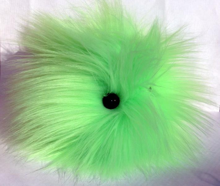 FurPet© Long Hair Bright Lime Handmade Toy and Good Listener