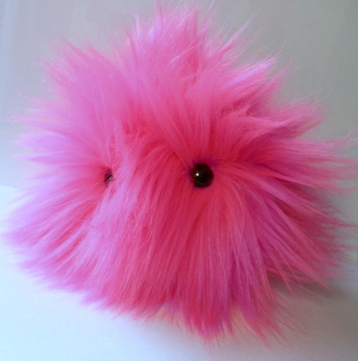 FurPet© in Long Hair Neon Pink Loves to Play Catch