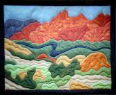 Original Design Hand Quilted Wall Hanging River Valley