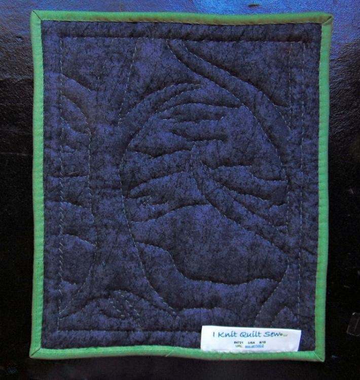 Art Quilt Original Design Hand Quilted and Embroidered