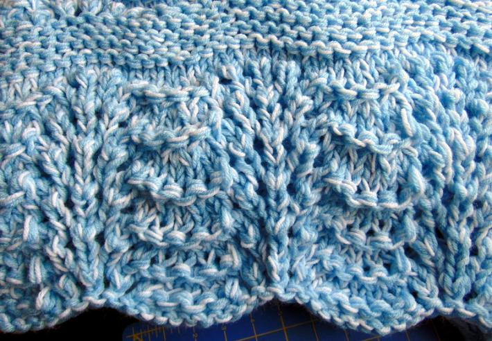 Easy Knit Receiving Blanket : Hand Knit Baby Blue Receiving Blanket on Handmade Artists ...